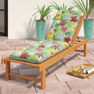 Tropical Reversible Outdoor Chaise Lounge Cushion