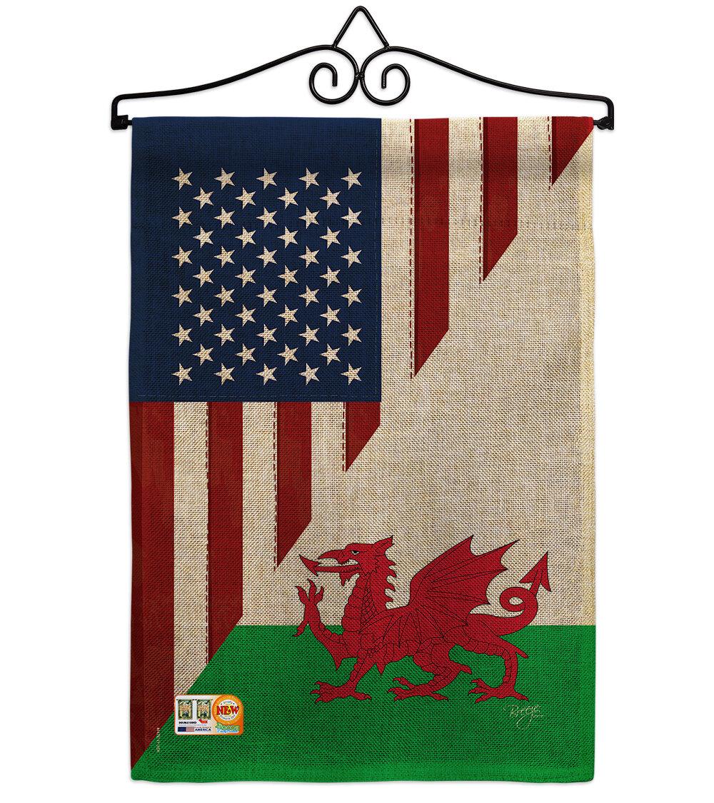 Breeze Decor American Wales Friendship 2 Sided Burlap 19 X 13 In Garden Flag Wayfair