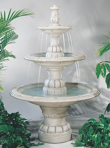 Henri Studio Tiered Concrete Large Contemporary Waterfall Fountain Wayfair