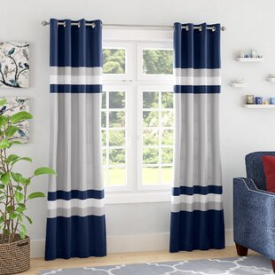 Reedsville Striped Room Darkening Thermal Grommet Curtain Panels (Set of 2)