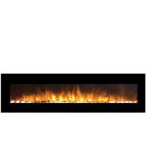 Grand Pebble Wall Mount Electric Fireplace by Moda Flame