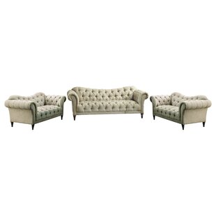 Dominic 3 - Piece Living Room Set by Kelly Clarkson Home