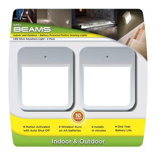 Mr. Beams LED Battery-Operated Under Cabinet Puck Light (Set of 2)