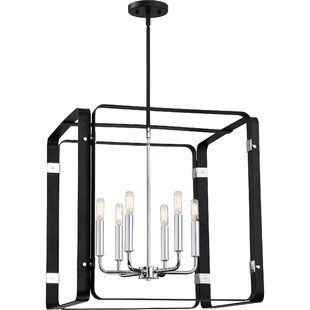 Franklin 6-Light Square/Rectangle Pendant by Orren Ellis