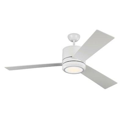 Brayden Studio 56 Ossu 3 Blade LED Ceiling Fan Motor Finish: Rubberized White
