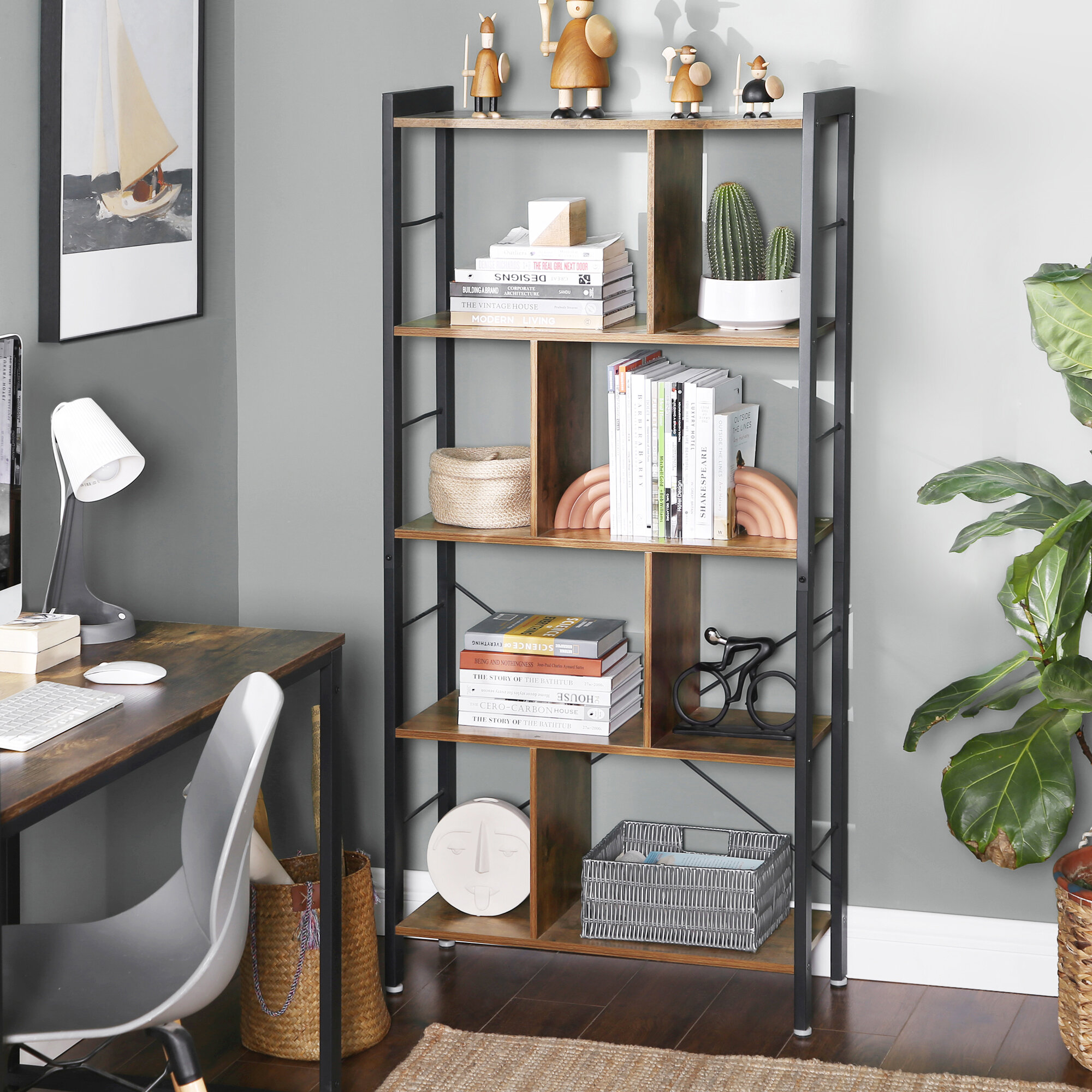 Millwood Pines Hasting Etagere Bookcase Reviews Wayfair