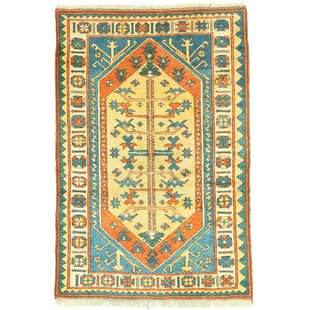 Spann Handwoven Wool Red/Blue/Beige Rug by World Menagerie