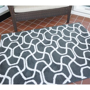Great choice One-of-a-Kind Algedi Infinity Gray/White Area Rug By Wrought Studio