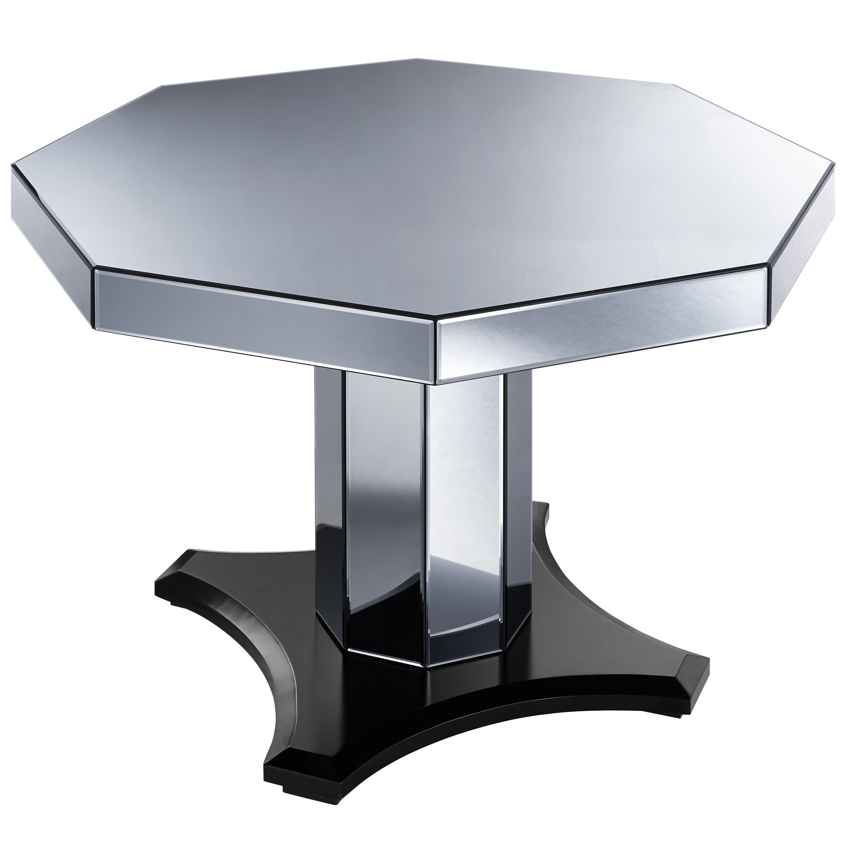 Rosdorf Park Brocklesby Smoked Mirrored Octagon Coffee Table
