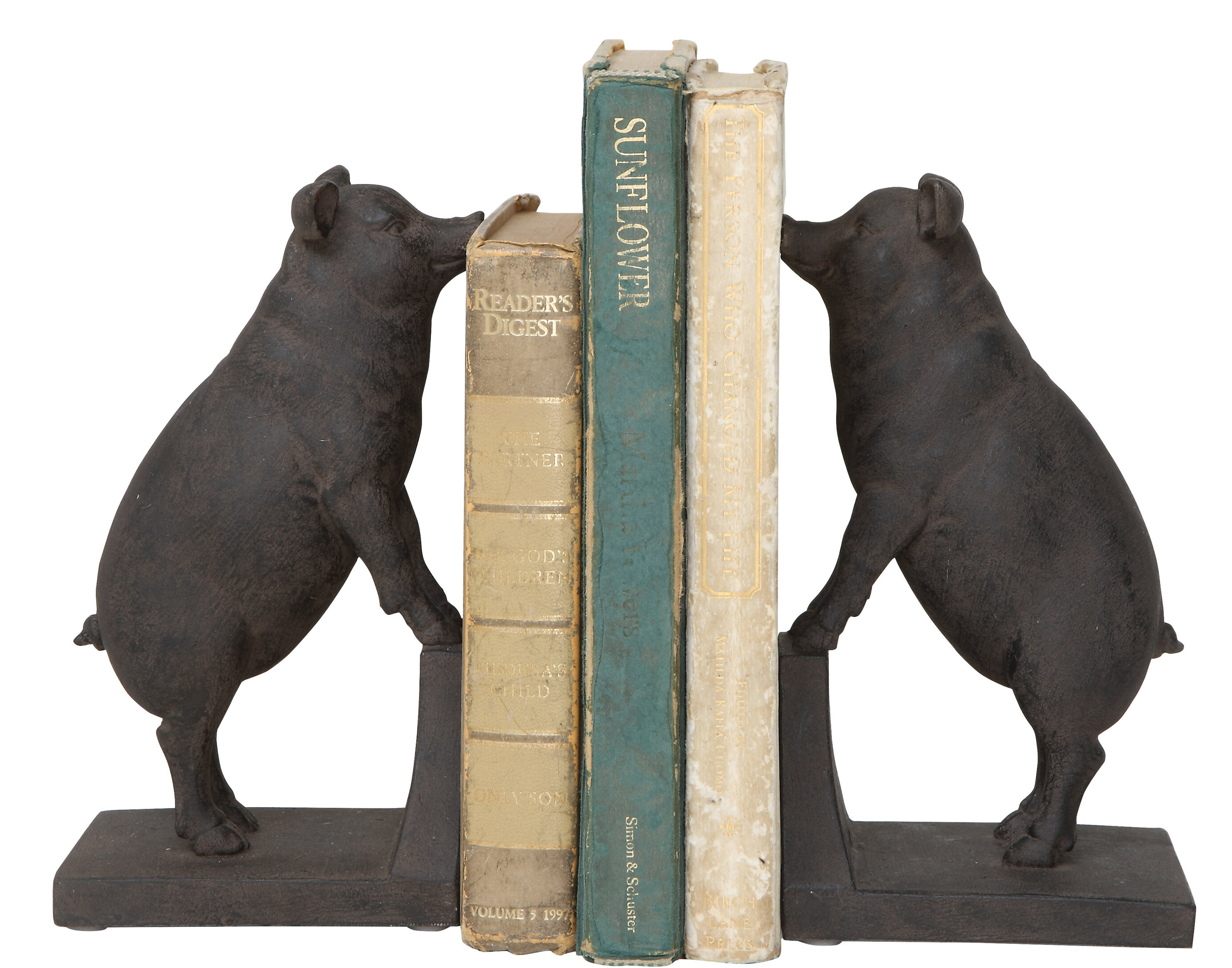 Set of Two Wooden Frog Shaped bookends Perfect for a Childs Bedroom