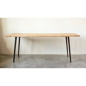 Fermin Recycled Wood and Metal Dining Table by Gracie Oaks