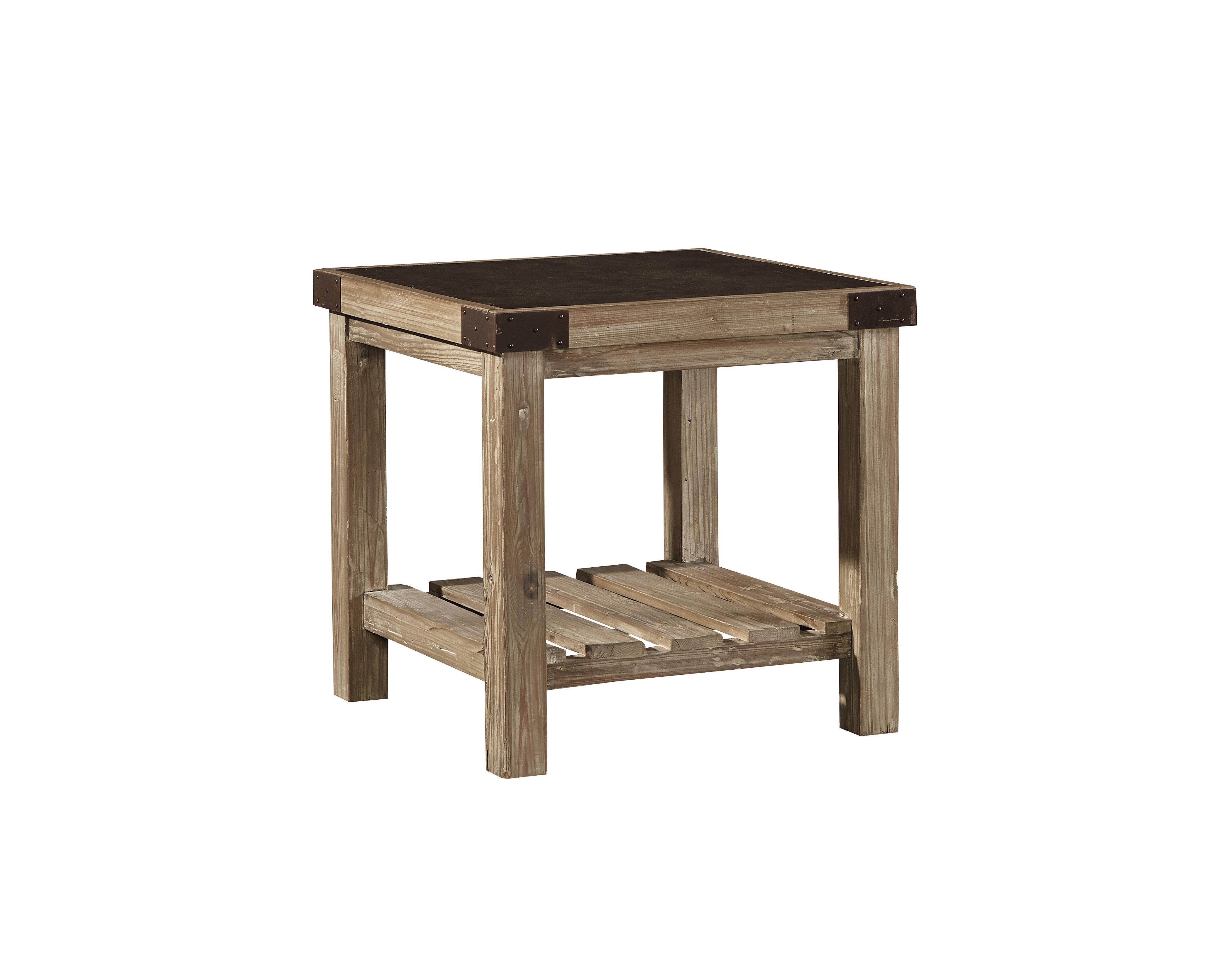 Gracie oaks warnell bluestone top end table wayfair