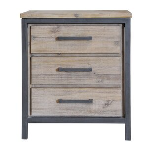 Mitt 3 Drawer Nightstand by Union Rustic