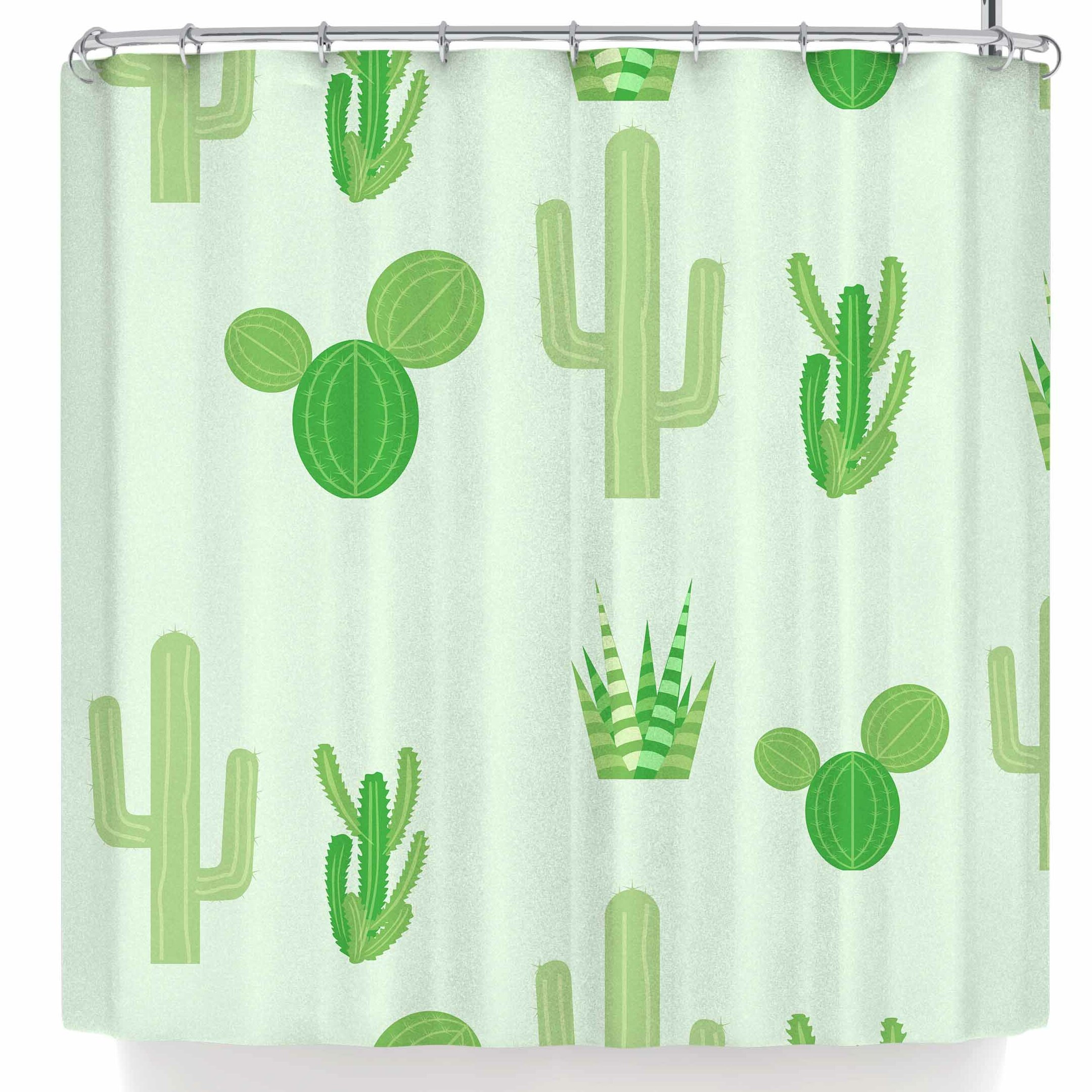 East Urban Home Famenxt Prickly Mint Cactus Shower Curtain