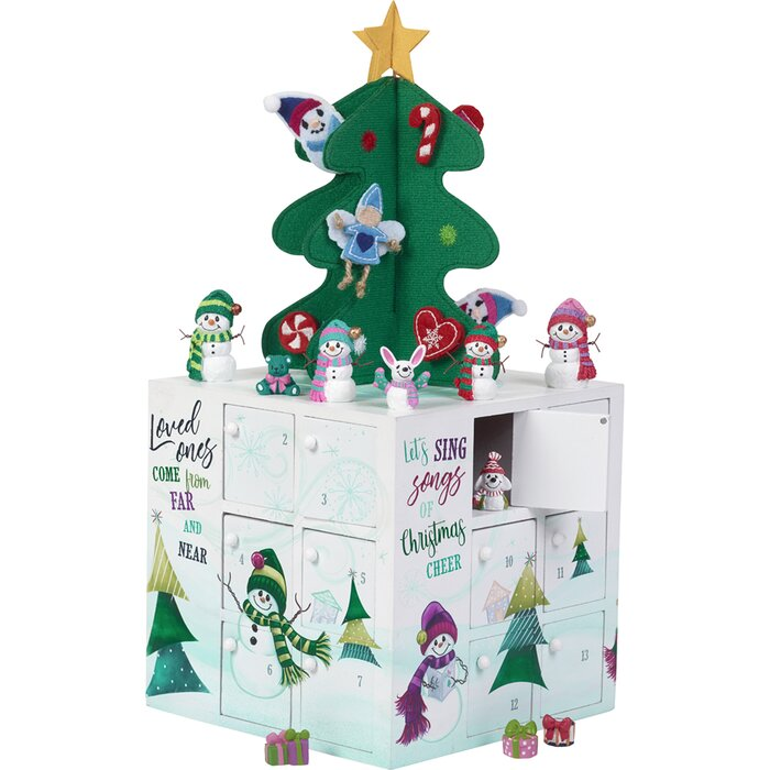 Christmas Countdown Calendar.33 Piece Precious Snowments Christmas Countdown Snowman Advent Calendar Set