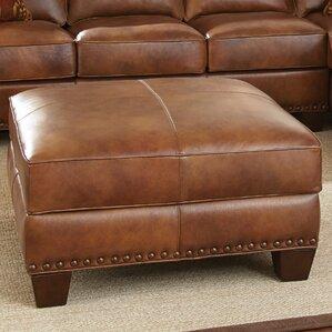 Silverado Leather Ottoman by Steve Silver Furniture