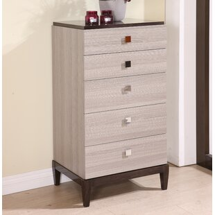 Brayden Studio Tucanae 5 Drawer Chest
