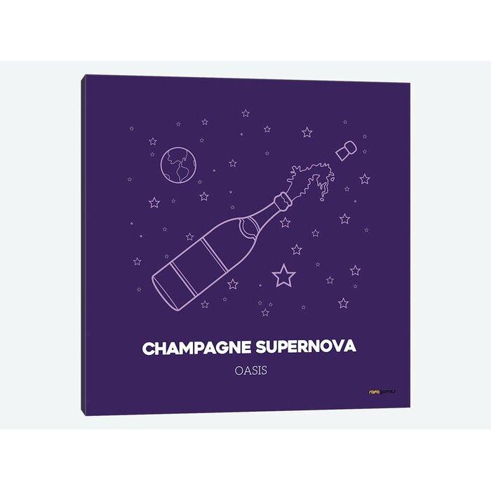 'Champagne Supernova' Graphic Art Print on Canvas