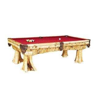 Traditional Cedar Log 8 Pool Table