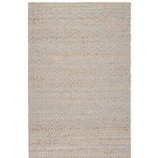 Pyrrhos Diamond Hand-Woven Brown Area Rug by Mercury Row