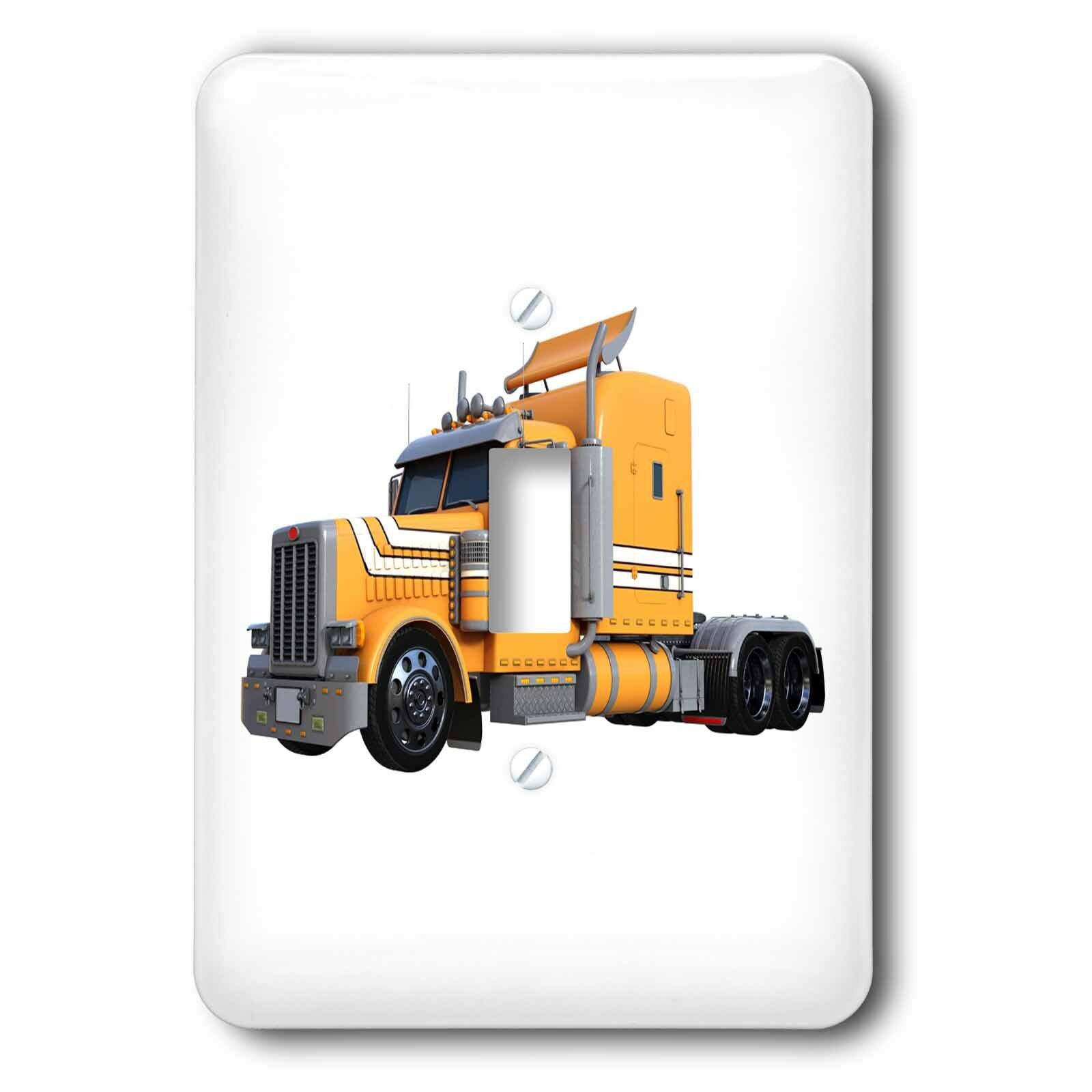 3drose Metallic Semi Truck 1 Gang Toggle Light Switch Wall Plate Wayfair