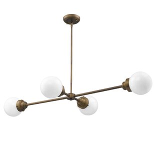 George Oliver Weisberg 4-Light Chandelier
