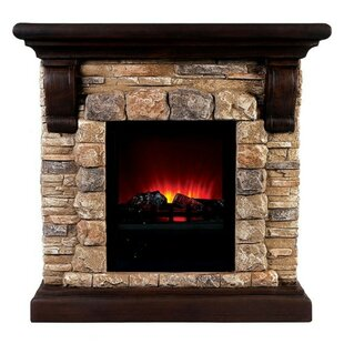 Winans Portable Faux Stone Electric Fireplace by Loon Peak
