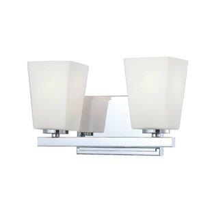 Latitude Run Jandreau 2-Light Vanity Light