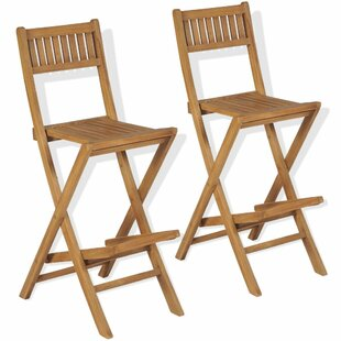 Dawlish Outdoor 76cm Bar Stool (Set Of 2) By Sol 72 Outdoor