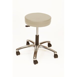 Height Adjustable Lab Stool with Duel Wheel by Brandt Industries