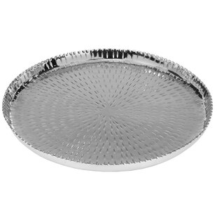 Carberry Round Metal Serving Tray