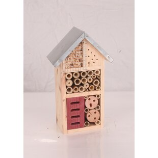 The Lodge Insect Hotel 26cm X 15cm X 9cm Bumblebee House By Symple Stuff