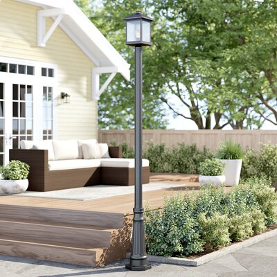 "Sol 72 Outdoor Lovette 1-Light 97"" Post Light Finish: Black, Size: 112.25"" H x 10"" W x 10"" D"