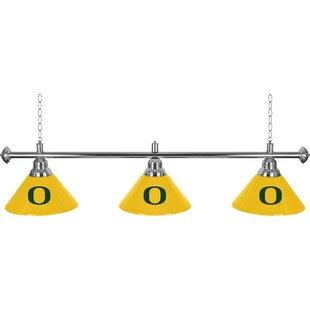 Trademark Global University of Oregon 3-Light Pool Table Lights Pendant