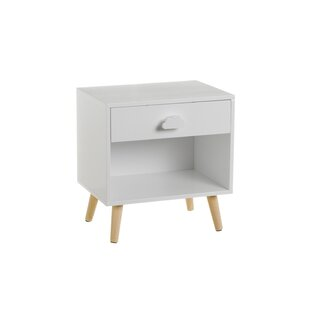 Greenberg 1 Drawer Bedside Table By Harriet Bee
