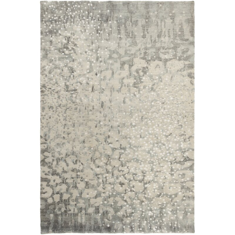 Surya Watercolor Abstract Hand Knotted Wool Charcoal Area Rug Perigold
