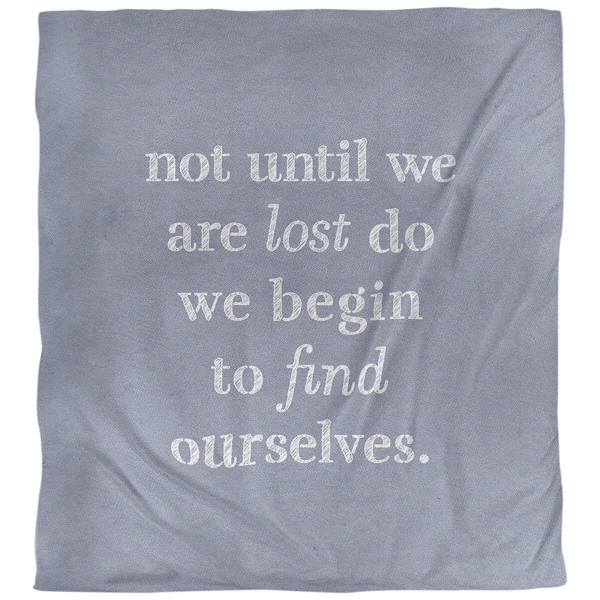 East Urban Home Quotes Handwritten Find Yourself Single Reversible Duvet Cover Wayfair