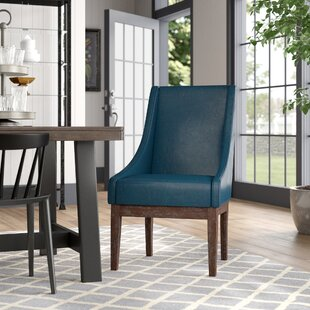 Charee Bonded Leather Side Chair by Gracie Oaks Comparison