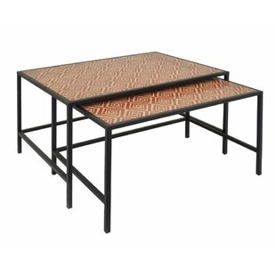 Read Reviews Onika Wood 2 Piece Nesting Tables by Bloomsbury Market