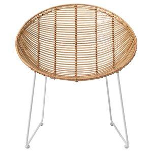 Braided Rattan Papasan Chair