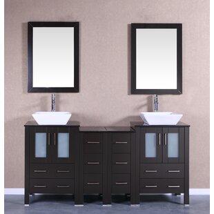Susanna 72 Double Bathroom Vanity Set with Mirror by Bosconi