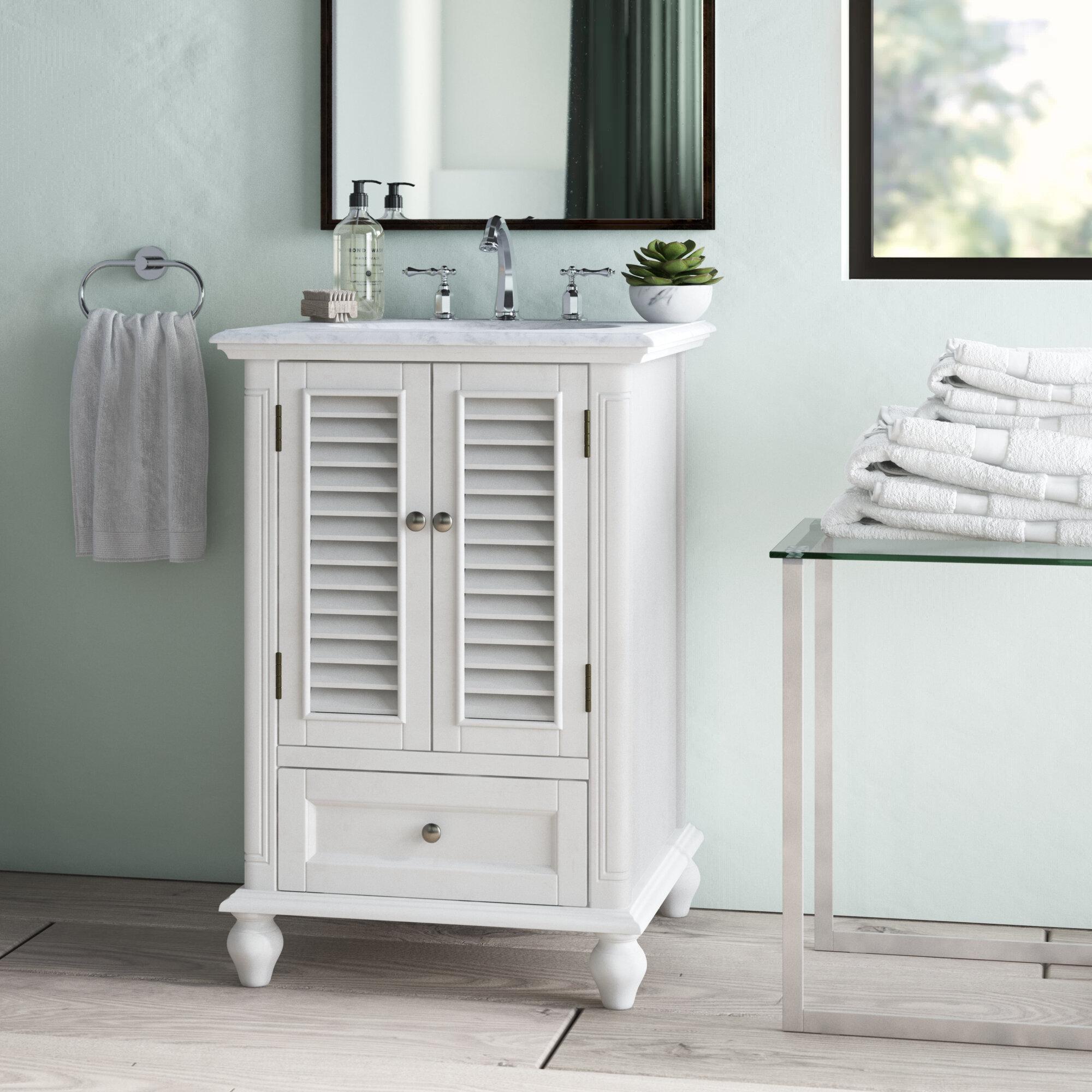 Rosecliff Heights Wilkins 24 Single Bathroom Vanity Set Reviews Wayfair