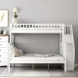 Crowden Twin Over Full Bunk Bed with Shelves by Harriet Bee