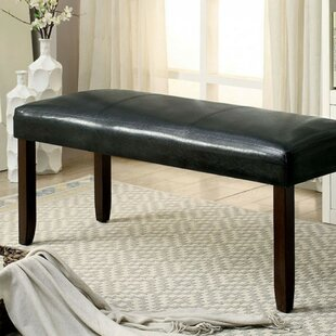 Winston Porter Kinley Leatherette Wood Bench