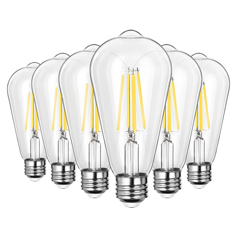Dewenwils 7 Watt 60 Watt Equivalent St64 Led Dimmable Light Bulb Warm White 2700 E26 Medium Standard Base Reviews Wayfair