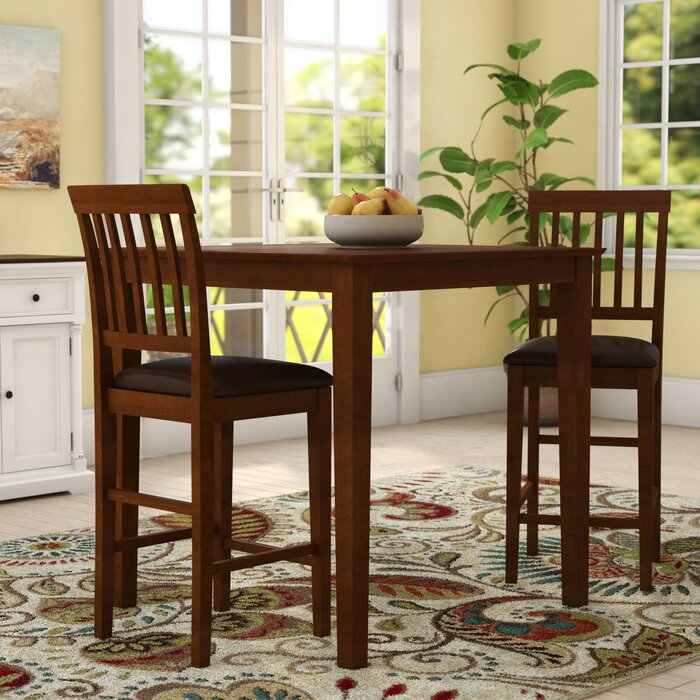 Quinlan Traditional 3 Piece Counter Height Bistro Set
