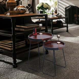 Littleton Stylish 2 Piece Nesting Tables by Union Rustic