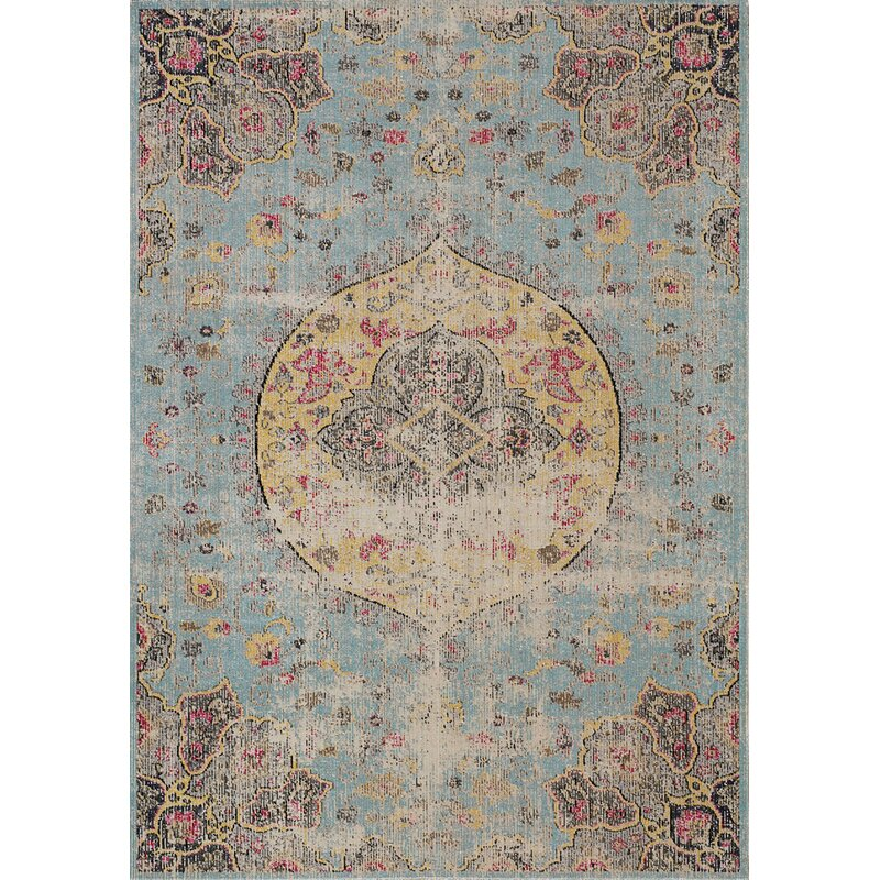 Bungalow Rose Gunderson Distressed Blue