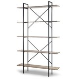 Wilsonville 84.75 H x 51.25 W Metal Etagere Bookcase by 17 Stories