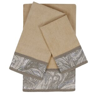Earlington Embellished 3 Piece Towel Set